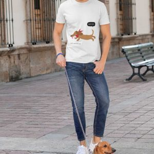 guru tshirt not fat collection dachshund