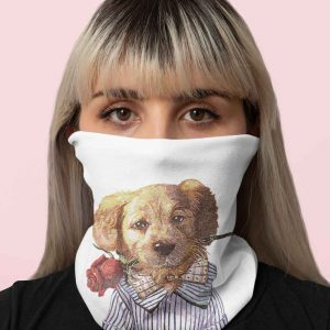 puppy in love washable face mask1
